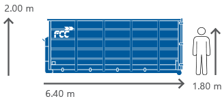 24m3 Container für alle Abfallarten von FCC Abfall Service online mieten